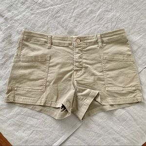 J Brand Brona Cotton-Twill Blend Shorts